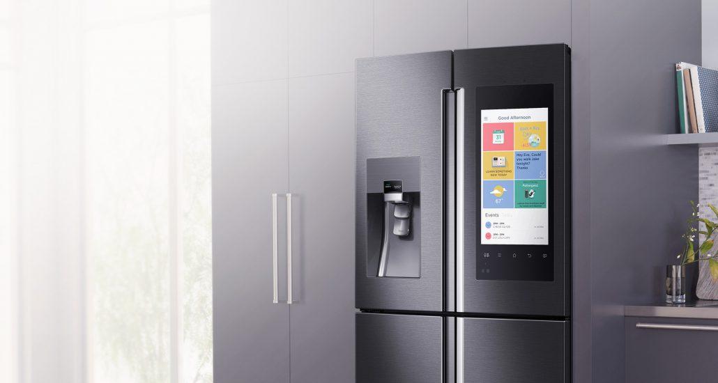 Prototype de réfrigérateur connecté par Samsung et Google