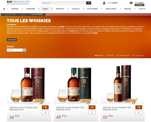 Bar Premium, la boutique en ligne du groupe Pernod Ricard