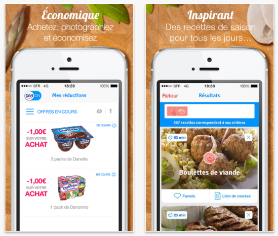 DanOn, l'application nutritionnelle du groupe Danone