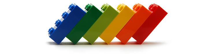 une pile de Lego