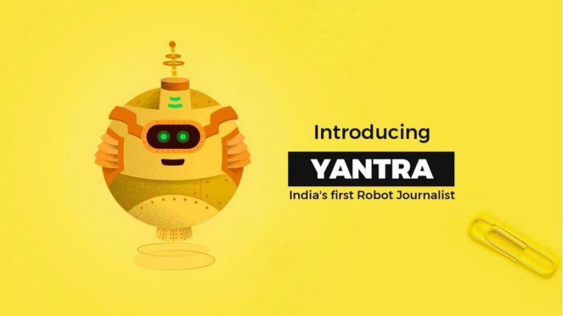 Yantra, le premier robot journaliste indien se charge de trouver les sources d'information, de les recouper et de fournir une première analyse aux rédacteurs humains